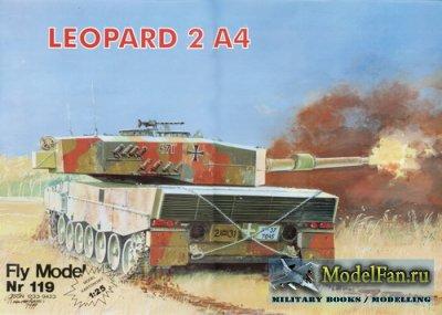 Сборная модель для склеивания из бумаги/картона Название: Танк Leopard 2A4 Издательство: Fly Model Формат файла: JPG...